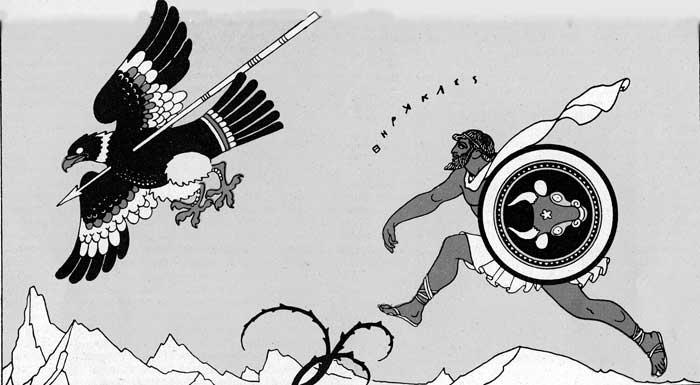 Ercole uccide                     l'aquila