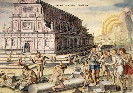 Tempio di Diana ad efeso (ricostrizione                     grafica)