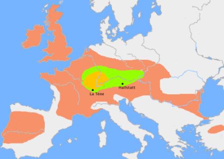 Ubicazione dei Gallo-Celti
